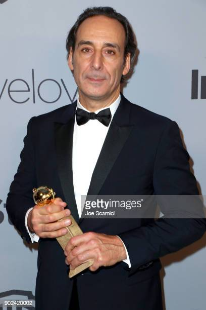 Composer Alexandre Desplat attends the 2018 InStyle and Warner Bros 75th Annual Golden Globe Awards PostParty at The Beverly Hilton Hotel on January...