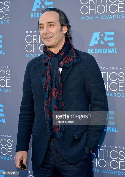Composer Alexandre Desplat attends the 20th annual Critics' Choice Movie Awards at the Hollywood Palladium on January 15 2015 in Los Angeles...