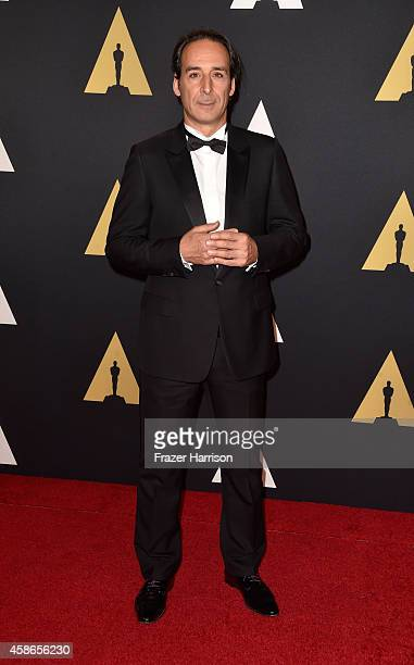Composer Alexandre Desplat attends the Academy Of Motion Picture Arts And Sciences' 2014 Governors Awards at The Ray Dolby Ballroom at Hollywood...