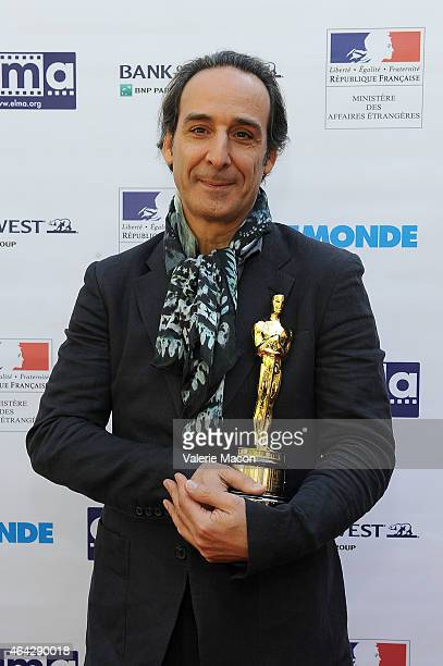 Composer Alexandre Desplat attends The Consul General Of France Mr Axel Cruau Honors The French Nominees For The 87th Annual Academy Awards at French...