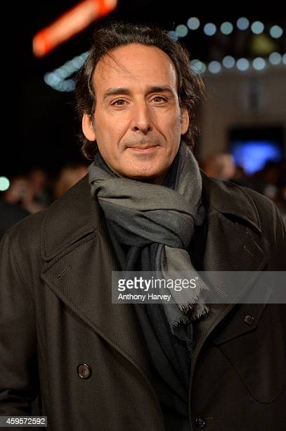 Composer Alexandre Desplat attends the UK Premiere of 'Unbroken' at Odeon Leicester Square on November 25 2014 in London England