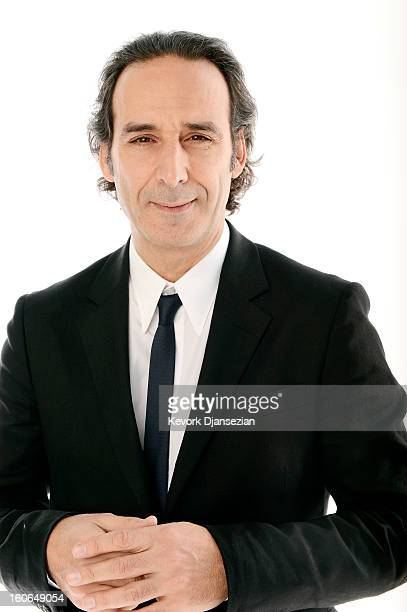 Composer Alexandre Desplat poses for a portrait during the 85th Academy Awards Nominations Luncheon at The Beverly Hilton Hotel on February 4 2013 in...