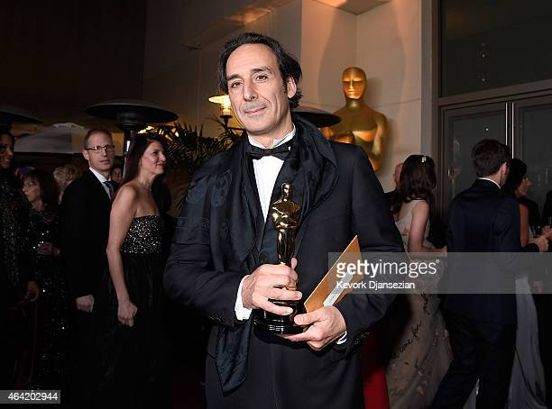Composer Alexandre Desplat winner of the Best Achievement in Music Written for Motion Pictures Original Score for 'The Grand Budapest Hotel' attends...