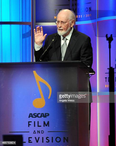Composer Alf Clausen speaks on stage at the 30th Annual ASCAP Film Television Music Awards at The Beverly Hilton Hotel on March 9 2015 in Beverly...