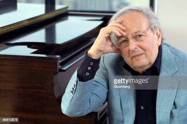 Composer and conductor Andre Previn poses while seated at a piano during an interview in New York on Monday June 25 2007