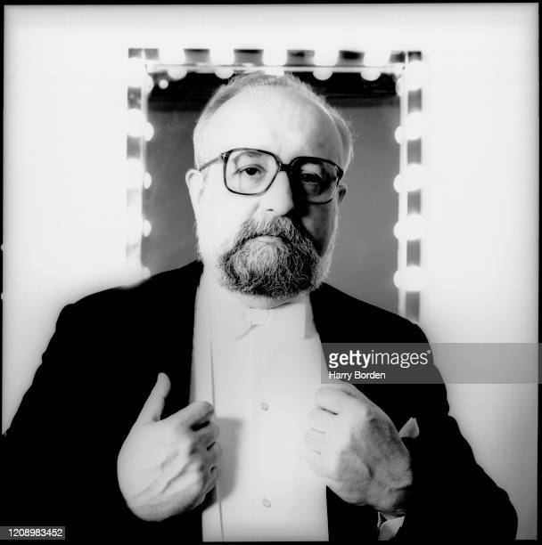 Composer and conductor Krzysztof Penderecki is photographed for the Wire magazine on March 16 1990 in London England