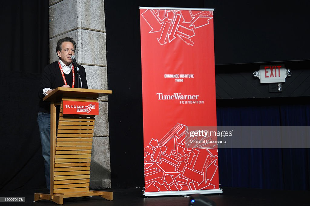 Composer and Director of the Film Music program at the Sundance Institute Peter Golub speaks onstage at the Power Of Story: Measure For Measure Panel during the 2013 Sundance Film Festival at Egyptian Theatre on January 25, 2013 in Park City, Utah.