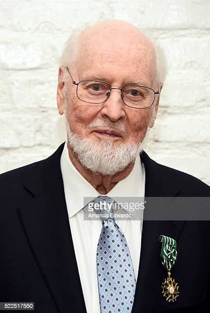 Composer and honoree John Williams attends the l'Ordre National des Arts et Lettres Awards Ceremony at the Consulate General of France on April 19...