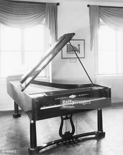 Composer and musician Ludwig Van Beethoven's piano as preserved in the BeethovenHaus in Bonn in Germany