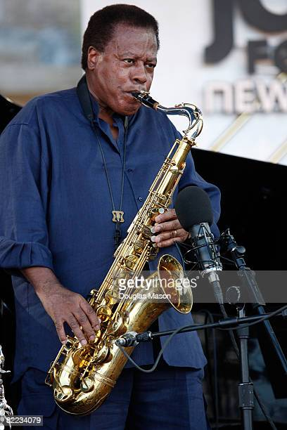 Composer and saxophonist Wayne Shorter performs at the JVC Jazz Festival Newport at Fort Adams State Park August 9 2008 in Newport Rhode Island