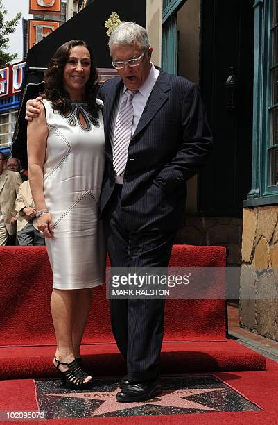 Composer and songwriter Randy Newman with his wife Gretchen Preece at his star presentation ceremony on the Hollywood Walk of Fame in Hollywood on...