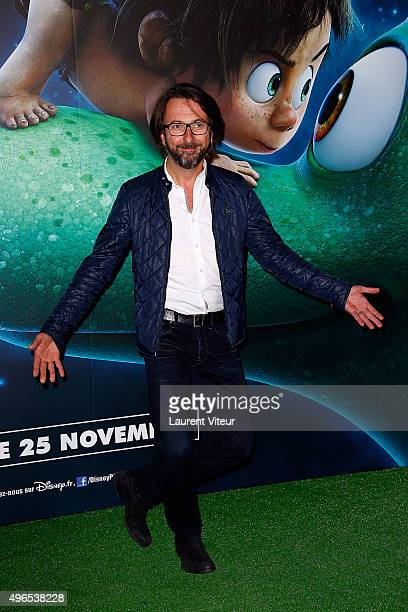 Composer and TV Presenter Alex Jaffray attends 'Le Voyage d'Arlo The Good Dinosaur' Paris Premiere at Le Grand Rex on November 10 2015 in Paris France