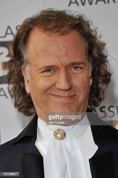 Composer Andre Rieu attends the Classical BRIT Awards held at The Royal Albert Hall on May 13 2010 in London England