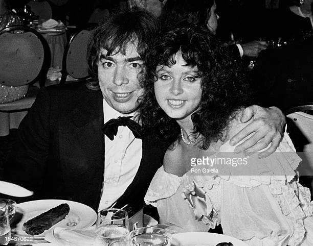 Composer Andrew Lloyd Webber and wife Sarah Brightman attending Party for 37th Annual Tony Awards on June 5 1983 at the New York Hilton Hotel in New...