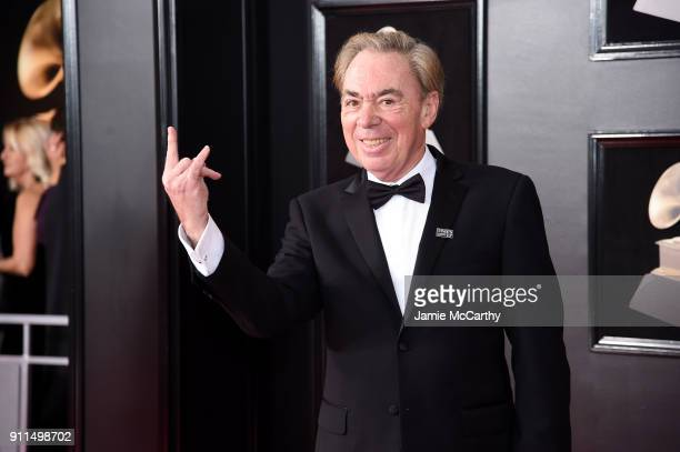 Composer Andrew Lloyd Webber attends the 60th Annual GRAMMY Awards at Madison Square Garden on January 28 2018 in New York City