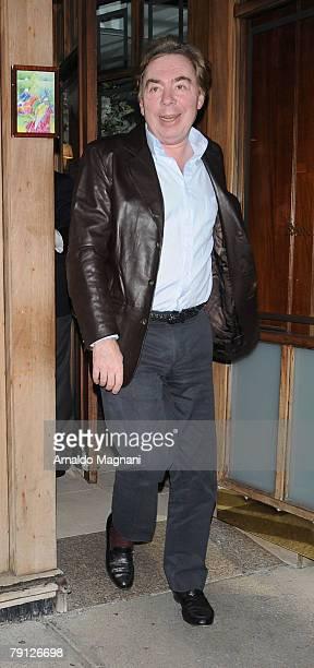 Composer Andrew Lloyd Webber leaves Nello Restaurant January 19 2008 in New York City