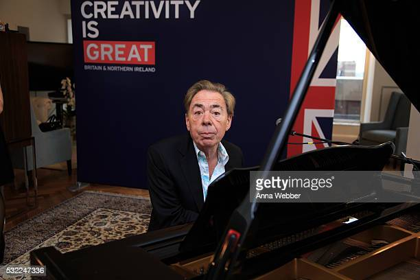 Composer Andrew Lloyd Webber performs during The British Consulate Honors Legendary Composer Andrew Lloyd Webber at British ConsulateGeneral on May...