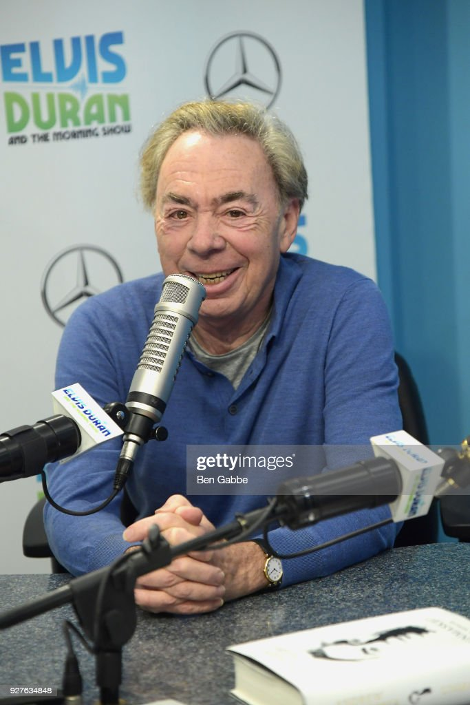 Composer Andrew Lloyd Webber visits 'The Elvis Duran Z100 Morning Show' at Z100 Studio on March 5, 2018 in New York City.
