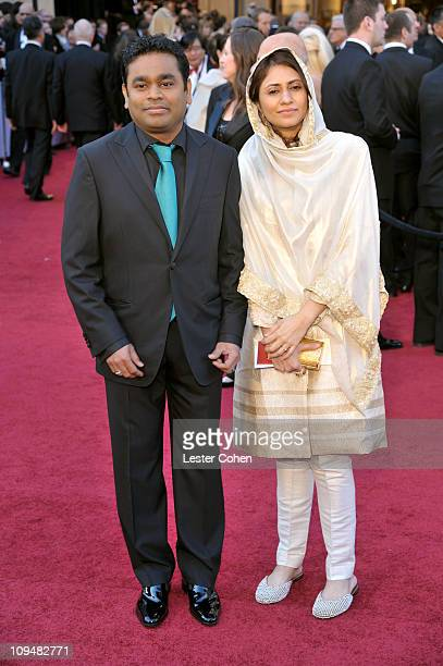 Composer AR Rahman and guest arrive at the 83rd Annual Academy Awards held at the Kodak Theatre on February 27 2011 in Los Angeles California