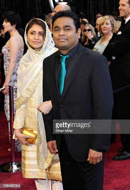 Composer AR Rahman and guest arrive at the 83rd Annual Academy Awards held at the Kodak Theatre on February 27 2011 in Hollywood California