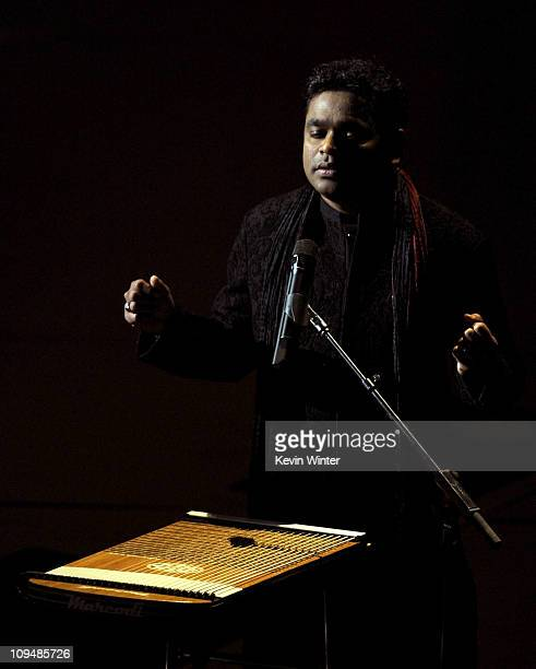Composer AR Rahman performs 'If I Rise' from the motion picture '127 Hours' a nominee for Best Achievement in Music Written for Motion Pictures...