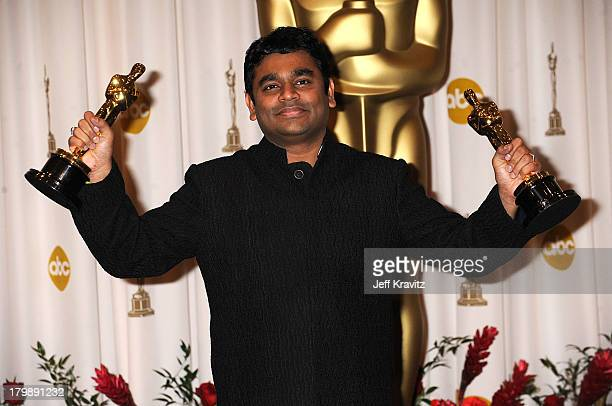 Composer AR Rahman poses in the 81st Annual Academy Awards press room held at The Kodak Theatre on February 22 2009 in Hollywood California