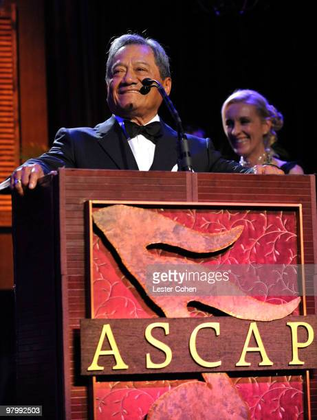 Composer Armando Manzanero speaks onstage at 18th Annual ASCAP Latin Music Awards at The Beverly Hilton hotel on March 23 2010 in Beverly Hills...