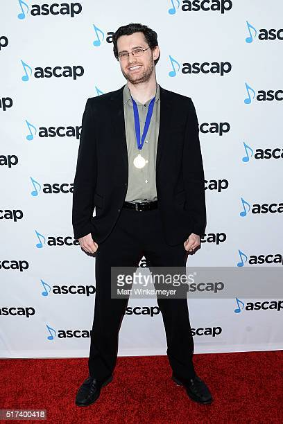 Composer Austin Wintory arrives at the 2016 ASCAP Screen Music Awards at The Beverly Hilton Hotel on March 24 2016 in Beverly Hills California