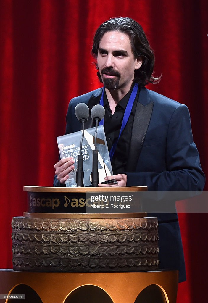 Composer Bear McCreary accepts the Composers' Choice TV Composer of