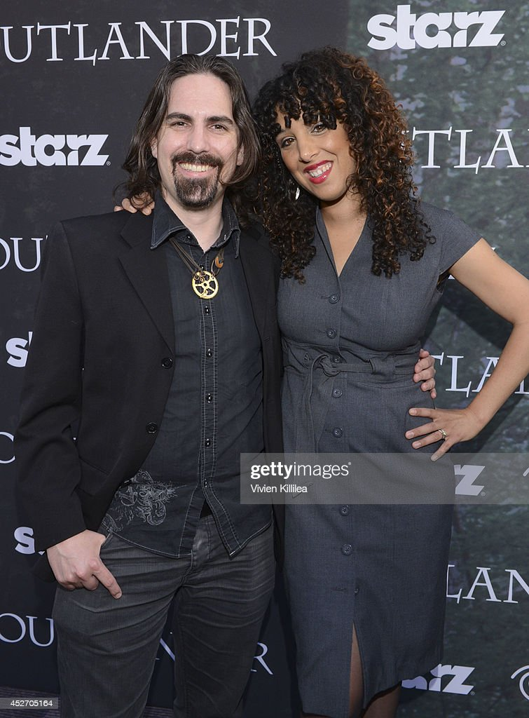 Composer Bear McCreary and singer Raya Yarbrough attend the Starz Series 'Outlander' Premiere - Comic-Con International 2014 at Spreckels Theatre on July 25, 2014 in San Diego, California.