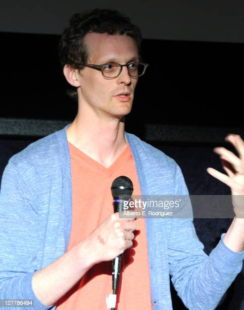 Composer Benjamin Balcom speaks at the 'The PruittIgoe Myth' Q A during the 2011 Los Angeles Film Festival at Regal Cinemas LA Live on June 17 2011...
