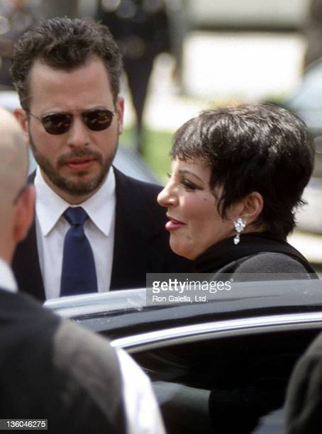 Composer Billy Stritch and actress/singer Liza Minnelli attend Frank Sinatra's Funeral Service on May 20 1998 at the Church of the Good Shepherd in...