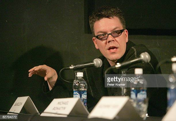 Composer Blake Leyh speaks at 'The Soundtrack' panel part of the Tribeca Talks program during the Tribeca Film Festival April 27 2005 in New York City