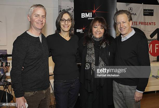 Composer Blake Neeley composer Miriam Cutler BMI's Doreen RingerRoss and composer Mark Golub attend BMI's 16th Annual Composer/Director Roundtable...