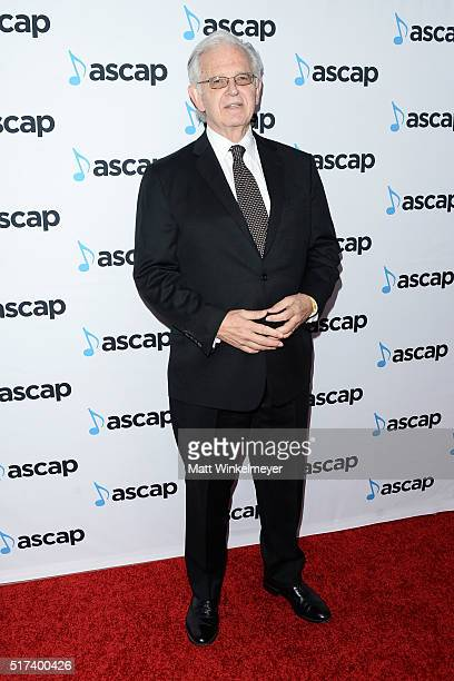 Composer Bruce Broughton arrives at the 2016 ASCAP Screen Music Awards at The Beverly Hilton Hotel on March 24 2016 in Beverly Hills California