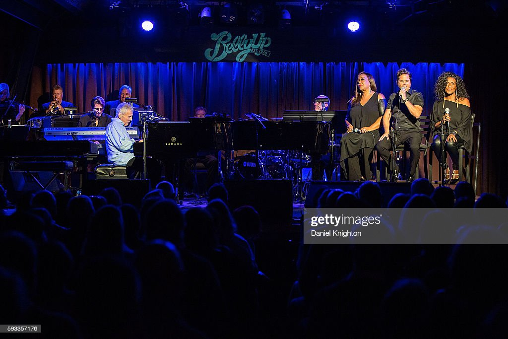 Composer Burt Bacharach, and vocalists Donna Taylor, John Pagano, and Josie James of Burt Bacharach perform on stage at Belly Up Tavern on August 21, 2016 in Solana Beach, California.