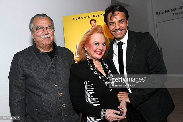 Composer Carlo Siliotto singer/actress Carol Connors and director/actor Eugenio Derbez attend the Instructions Not Included screening and reception...