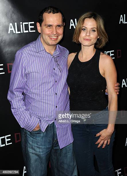 Composer Carlos Vivas and actress Augie Duke arrive for the Screening Of Alice D At The 19th Annual IFS Film Festival held at Laemmle's Music Hall...