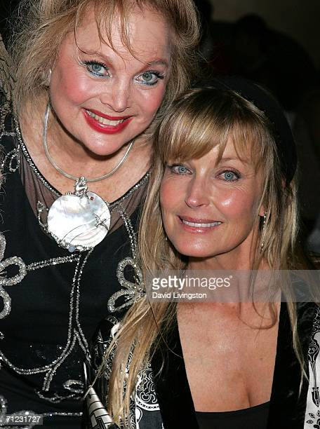 Composer Carol Connors and actress Bo Derek attend the Friars of Beverly Hills celebrity fundraiser dinner gala presenting their Life Achievement...