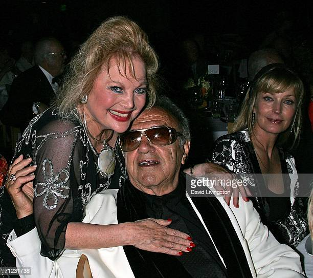 Composer Carol Connors Hollywood car creator George Barris and actress Bo Derek attend the Friars of Beverly Hills celebrity fundraiser dinner gala...