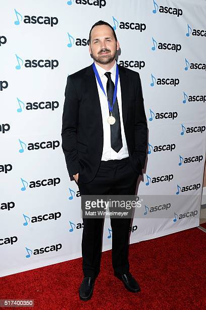 Composer Chris Alan Lee arrives at the 2016 ASCAP Screen Music Awards at The Beverly Hilton Hotel on March 24 2016 in Beverly Hills California