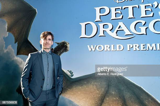 Composer Daniel Hart arrives at the world premiere of Disney's 'PETE'S DRAGON' at the El Capitan Theater in Hollywood on August 8 2016 The new film...
