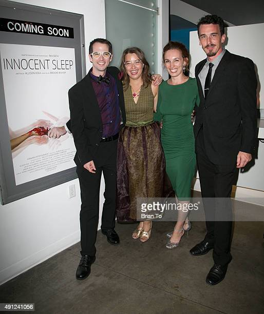 Composer Daniel Landberg director Brooke Bishop actress Allison Volk and actor Colin Martin attend 'Innocent Sleep' Los Angeles Premiere at Downtown...