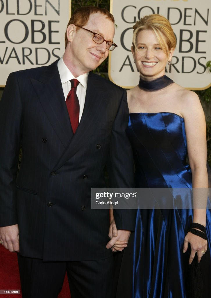 Composer Danny Elfman (L) and Actress Bridget Fonda attend the 61st Annual Golden Globe Awards at the Beverly Hilton Hotel on January 25, 2004 in Beverly Hills, California.