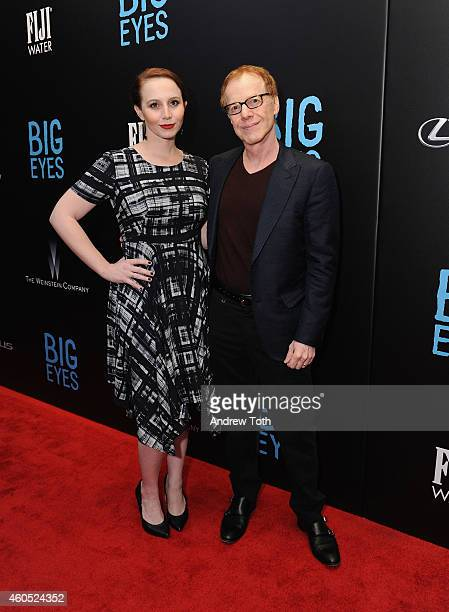 """Composer Danny Elfman and guest attend """"Big Eyes"""" New York premiere at Museum of Modern Art on December 15, 2014 in New York City."""