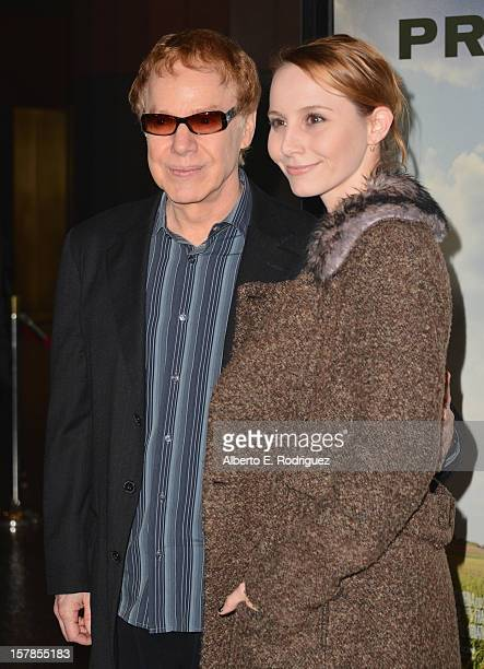 Composer Danny Elfman and Mali Elfman arrive to the premiere of Focus Features' Promised Land at the Directors Guild Of America on December 6 2012 in...