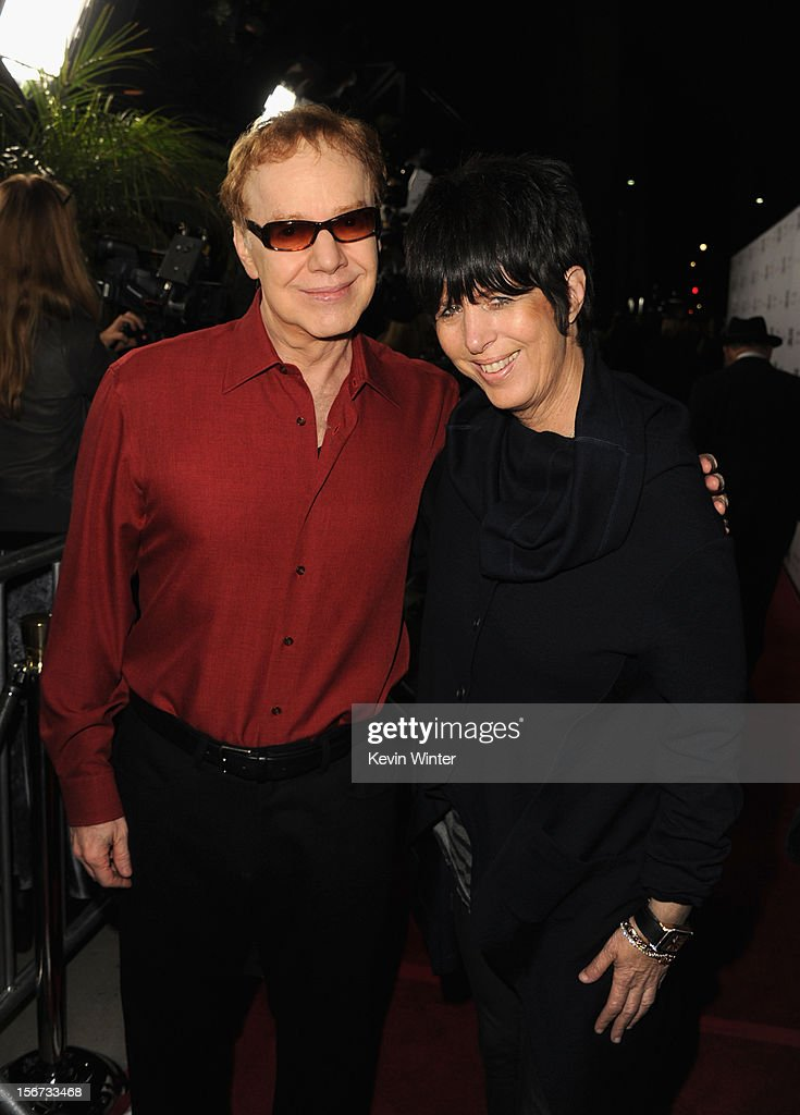Composer Danny Elfman and songwriter Diane Warren attend a screening of The Weinstein Company's 'Silver Linings Playbook' at the Academy of Motion Picture Arts and Sciences on November 19, 2012 in Beverly Hills, California.