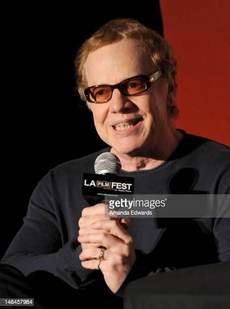 Composer Danny Elfman speaks onstage during Artist in Residence: Danny Elfman at the 2012 Los Angeles Film Festival held at Regal Cinemas L.A. Live...