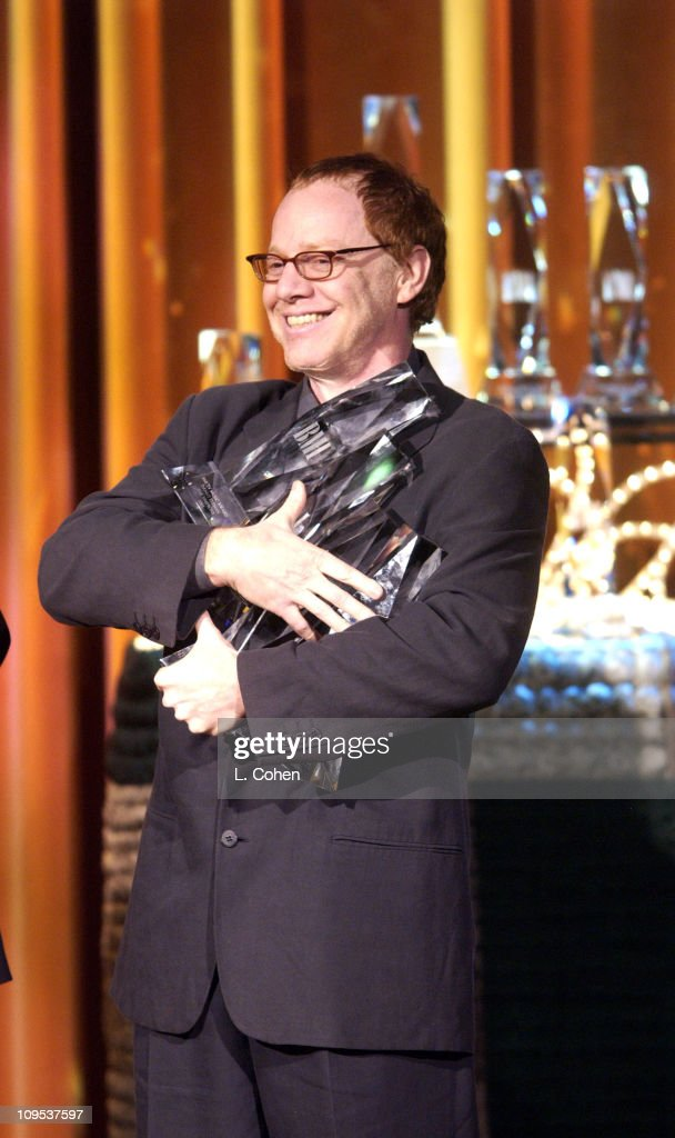 Composer Danny Elfman with with his four awards during BMI Honors Its Top Film, Television Composers and Songwriters at Annual Film and Television Awards at Beverly Wilshire Hotel in Beverly Hills, California, United States.