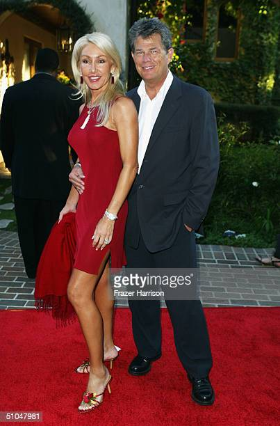 Composer David Foster and wife Linda Thompson arrive at The 6th annual MercedesBenz Designcure fashion show presented by Outback Streak House...